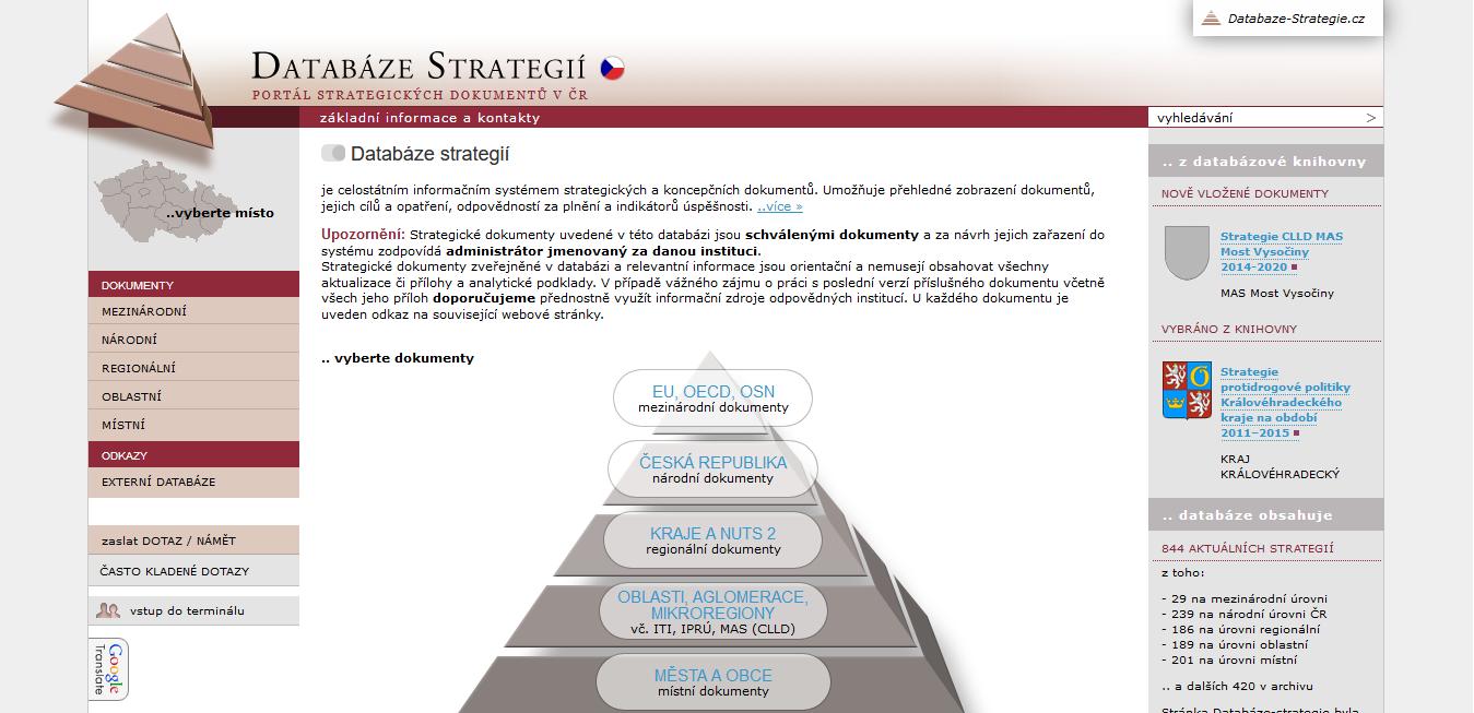 Portál strategických dokumentů v ČR